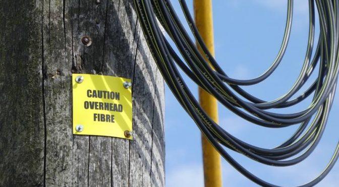 Fibre network underway
